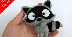 Raccoon Plush PDF Pattern -Instant Digital Download | Raccoons, Plush and Patterns