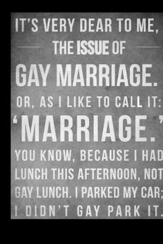 Gay Marriage - it's just marriage
