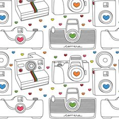Camera Love fabric by misstiina on Spoonflower - custom fabric    for my quillow?