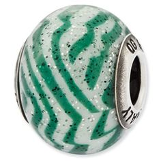 Sterling Silver Italian Murano Bead