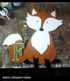 Hand made by me fox wall hanging. #foxwallhanging