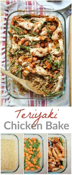 Easy Teriyaki Chicken Bake. This teriyaki chicken bake has it all- it's tasty, healthy, and easy! And our homemade teriyaki sauce is super simple and delicious. http://www.superhealthykids.com/easy-teriyaki-chicken-bake-recipe/