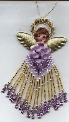 Another beaded xmas angel