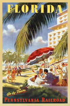 vintage travel poster Florida
