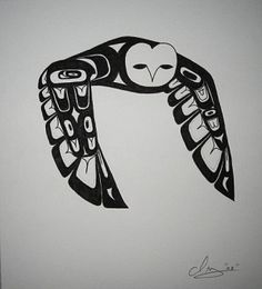 Metlakatla Art Gallery - Traditional Tsimshian/Haida Art - Travel tips - Travel tour - travel ideas Haida Kunst, Haida Art, Art Haïda, Owl Art, American Indian Art, Native American Art, Inuit Art, Native Design, Canadian Art
