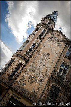 ul. Prądzyńskiego  #Wroclaw #Breslau #Poland #architecture #tenement Pisa, Poland, Townhouse, Louvre, Tower, Architecture, Building, Places, Landscapes
