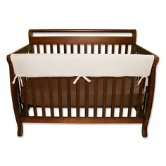Trend Lab Solid Convertible Crib Rail Cover, Brown
