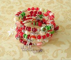 Christmas Bracelet Boho Bracelet Holiday Jewelry by BohoStyleMe