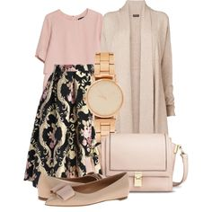 A fashion look from February 2015 featuring Phase Eight cardigans, MANGO blouses and Chicwish skirts. Browse and shop related looks.