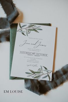 Hey lovely! If you are looking for beautiful wedding stationery to compliment your special day, then this Printable Wedding Invitation is bound to put a big smile on your dial! Featuring watercolour eucalyptus graphics, this would set the tone perfectly for your greenery, garden or rustic themed wedding. Click through to view the entire EUCA Collection! #weddinginvite #diywedding #rusticwedding #greenerywedding #diyweddinginvitations