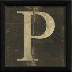 Letter P in Black $44.00
