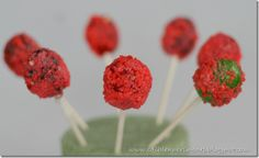 Acid Pops:  These suckers are really fun to eat. They explode in your mouth! I just used the original flavors of blow pops, but you can give them even more of a kick by using sour the sour blow pop flavors.