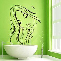 Wall Decor Vinyl Decal Sticker Fashion Girl Hair Beauty Salon Model Kg468 tanyastickers http://www.amazon.com/dp/B00PE1GW20/ref=cm_sw_r_pi_dp_NiF-ub0H9VBTJ
