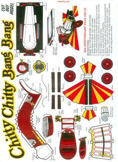 Chitty Chitty Bang Bang - Free Paper Toys and Models at PaperToys.com