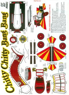 Chitty Chitty Bang Bang - Free Paper Toys and Models at PaperToys.com