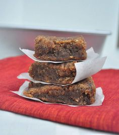 Gooey and delicious Grain Free Blondies.  They taste decadent with no added sugars.  You have to try these!