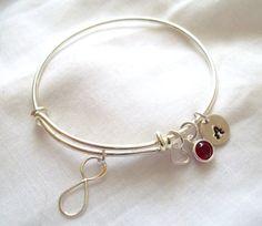 Alex and Ani Style Infinity Bracelet  by TheBlueEyedBeader on Etsy, $20.00