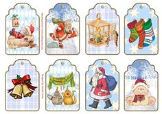 There are 8 lovely 'Christmas'  Gift Tags on this sheet. You can use these tags for your Christmas Gifts & Presents as well as use them as embellishments for your Cardmaking Christmas projects.  If you use these tags as gift tags you can print them onto a slightly heavier card to make them more sturdy.  There is a hole placement on each tag for you to remove & then add your own choice of coloured ribbon.    Thank you for showing an interest in my design.  Please click on my n...