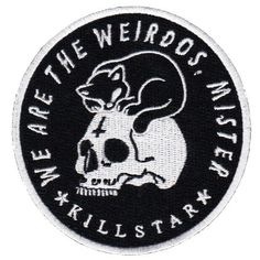 Weirdos Patch - £3.99  http://www.killstar.com/collections/patches/products/weirdos-patch-b