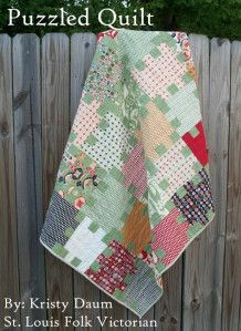 Puzzled Quilt « Moda Bake Shop by Kristy Daum-It looks complicated; but let me tell you a secret…it's goes together pretty easy. I'm working with Cosmo Cricket's Circa 1934 today and let me tell you, it's softer palette certainly has a great vintage vibe. A cozy lap sized quilt measuring approx.  52″ x 57″