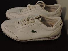 Lacoste Athletic Shoes Tennis White Sport Size 6 Ladies Fashion Sneakers Croc #Lacoste #Walking