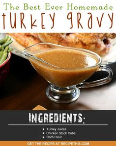 Blender Recipes | How to make the best ever homemade turkey gravy recipe from RecipeThis.com