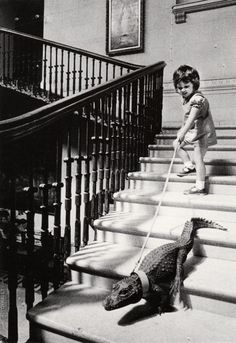 ranciavida:    Walking my alligator, c.1960s