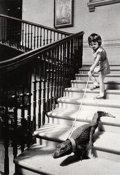 ranciavida: Walking my alligator, c.1960s