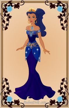 This is my representation of the birthstone for the month of September, which is Sapphire. Originally, I'd thought of doing Sapphire in a poofy dress, a. Alternative Disney Princesses, Its My Birthday Month, Azalea Dress Up, September Baby, Princess Aurora Dress, Doll Divine, Zodiac Art, Cartoon Styles, Black Girl Magic