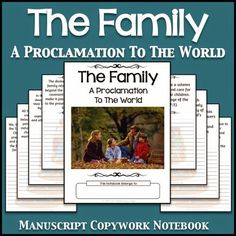 LDS Notebooking: The Family: A Proclamation To The World Copywork Notebook - Manuscript
