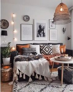 Bohemian Room, Bohemian Bedroom Decor, Boho Living Room, Interior Design Living Room, Living Room Designs, Living Room Decor, Bohemian Style, Bohemian Living, Living Rooms