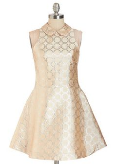Circle of Blithe Dress. #gold #modcloth