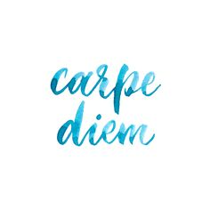 carpe diem -seize the day, live in the moment