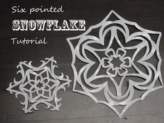 SIX pointed snowflake. Snowflakes are supposed to have six points. It's chemistry! So, here ya go: How to fold and cut a SIX pointed snowflake!
