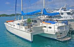 Grand Oasis Trimaran Charter Yacht - Discover Paradise On her, you will experience excellent cuisine in a Caribbean style Boat Stuff, Sail Away, Toys For Boys, Beautiful World, Oasis, Underwater, Caribbean, Sailing, Yachts