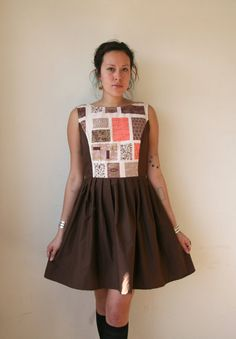 rustycuts on etsy ... a reminder for myself to draw up a practical dress pattern that flatters & frames show off my more unusual fabrics economically.