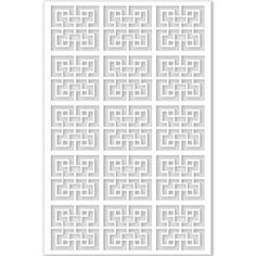 Acurio Latticeworks in. x 32 in. x 4 ft. White Chinese Style 2 Vinyl Decor Panel at The Home Depot - Mobile Home Depot, Half Curtains, Decorative Screen Panels, Arbors Trellis, Vinyl Decor, Aesthetic Beauty, Decks And Porches, Pvc Material, Azzaro