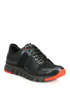 Saks Fifth Avenue Collection Zerogrand Sport Oxford Sneakers - Black -