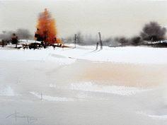 Watercolour-Acuarela-Corneliu-Dragan-Targoviste-peisaj-rural-31