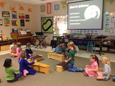 Make Music Rock!: Kindergartners on xylophones.
