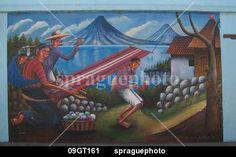 Sprague Photo Stock™ 09GT161 - San Juan la Laguna. Mural depicting ...