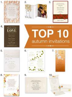 top 10 fall wedding invitations