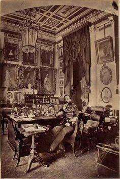 Tsar Alexander II of Russia in his study