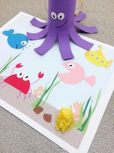 Beatles-Inspired Octopus's Garden Collage for Kids | The Bird Feed NYC
