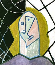 Pablo Picasso - Head of a Woman, 1946 Pablo Picasso Artwork, Picasso Portraits, Picasso Paintings, Oil Paintings, Malaga, Francoise Gilot, Cubist Movement, Georges Braque, Pics Art