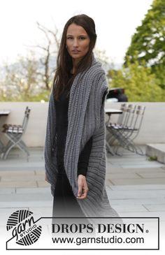 "Dea - Knitted DROPS jacket in ""BabyAlpaca Silk"" and ""Kid-Silk"". Size: S - XXXL. - Free pattern by DROPS Design"