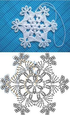 Crochet Patterns Christmas Crochet Snowflake Pattern 00 07 Wonderful DIY Crochet Snowflakes With Pattern Crochet Snowflake Pattern, Crochet Stars, Christmas Crochet Patterns, Crochet Snowflakes, Crochet Flowers, Christmas Knitting, Crochet Diy, Crochet Home, Thread Crochet
