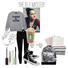 """""""Prince Charming"""" by retrochic394 ❤ liked on Polyvore featuring River Island, Anne Sisteron, Converse, Jewelonfire, Clinique, StudioSarah, Burberry and Mi-Pac"""