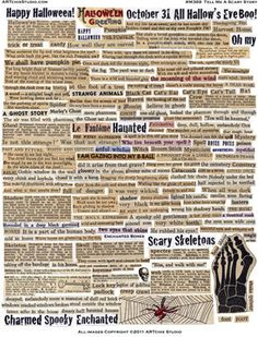 100 HALLOWEEN VINTAGE WORDS  Tell Me A Scary Story  Instant