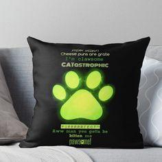 'Miraculous Ladybug - Chat Noir / funny cat puns' Throw Pillow by nikkihatsune Ladybug Y Cat Noir, Ladybug Comics, Miraclous Ladybug, Ladybug Cakes, Cat Puns, Funny Cat Memes, Funny Cats, Lady Bug, Bugaboo